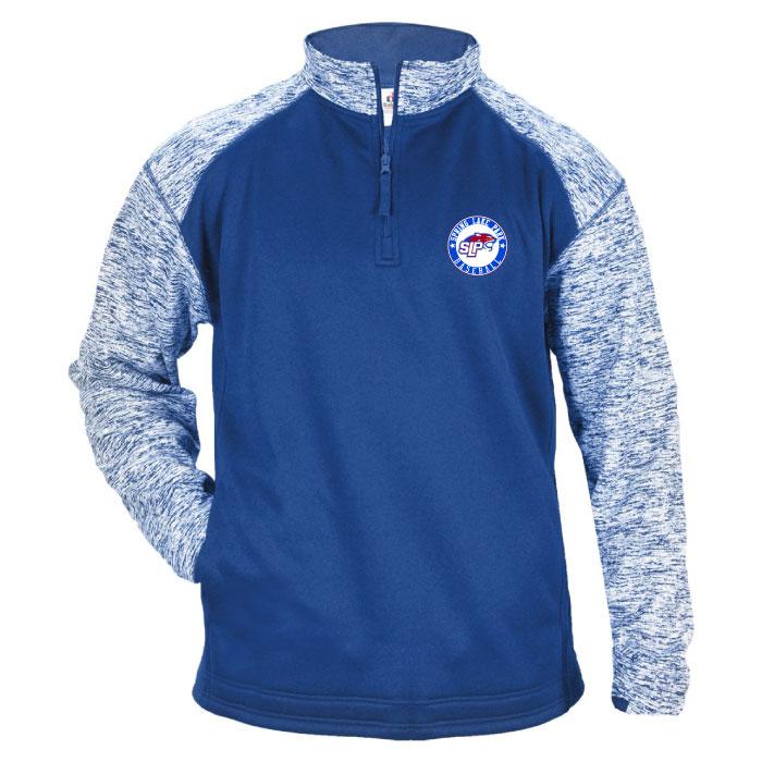 Slp baseball embroidered mens fleece jacket