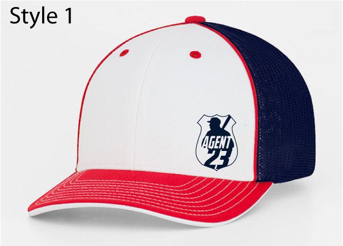 Agent 23 Rwb Embroidered Hat 404m Custom Apparel Inc