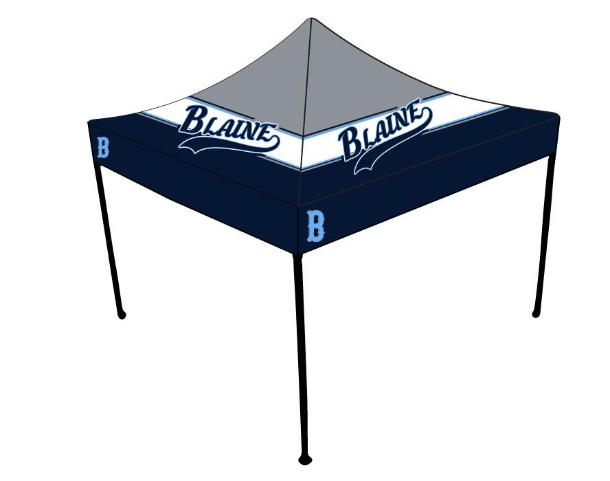 Blaine Baseball u2013 Full-Dye 10×10 Tent Canopy  sc 1 st  CA GEAR & Blaine Baseball - Full-Dye 10x10 Tent Canopy | Custom Apparel Inc.