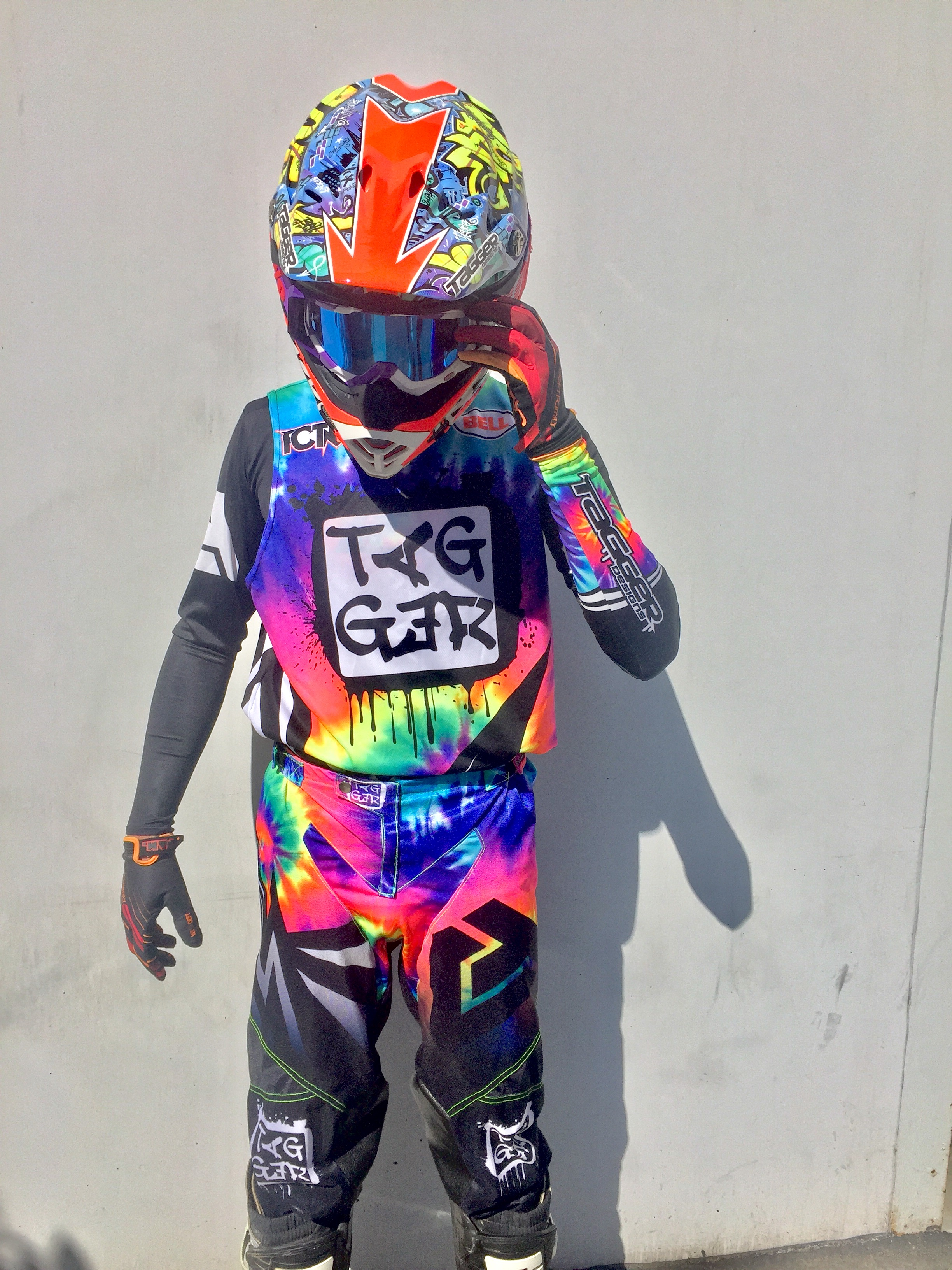 Tagger Designs Tye Dye Motocross Gear Set Custom