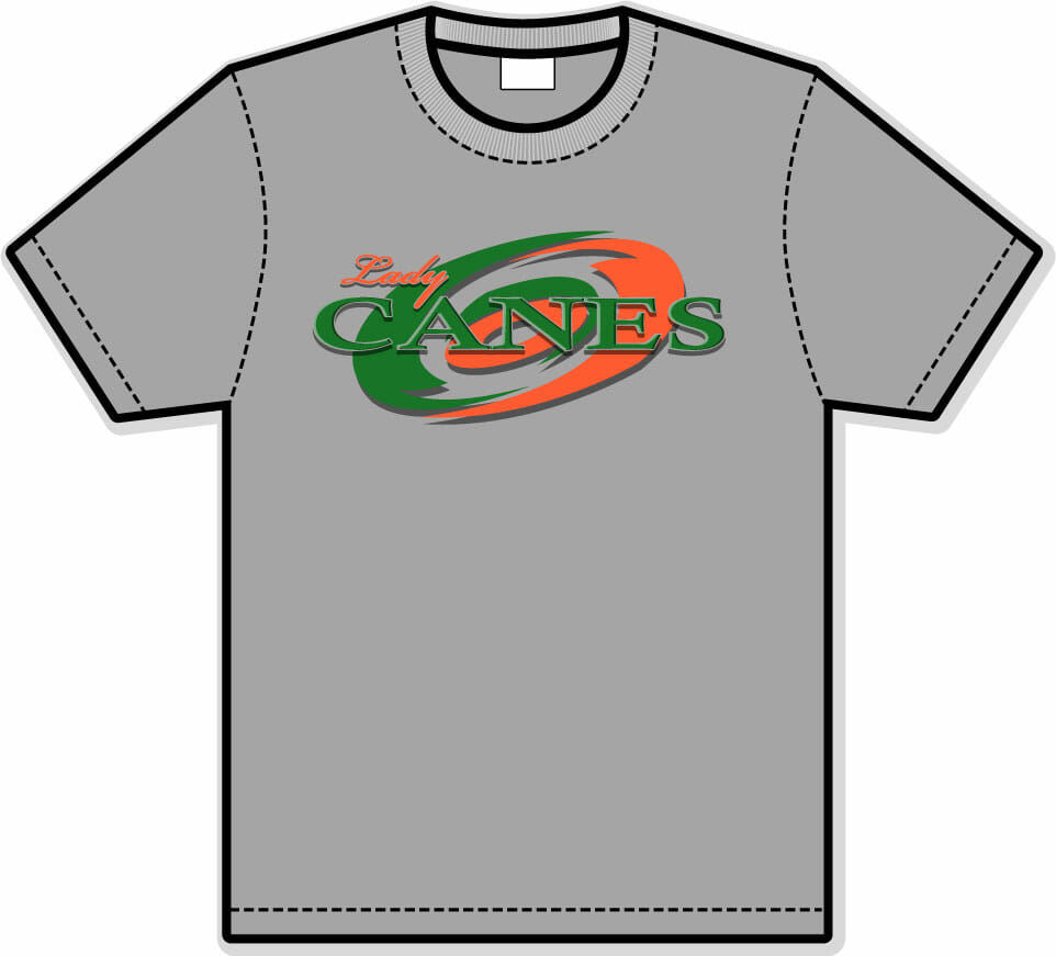 Lady canes performance t shirts custom apparel inc Custom performance t shirts