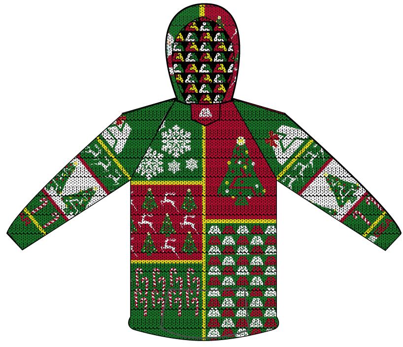 ca gear full dye ugly christmas sweater sweatshirt - Custom Christmas Sweater