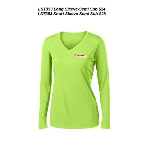 8381f81e Bethune Community School - Women's Sublimated V-Neck Tee (LST353 ...