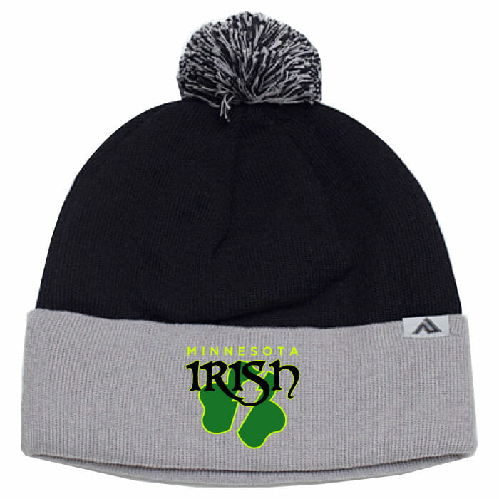 962ffd6cb11 MN Irish Pom Pom Knit Cap