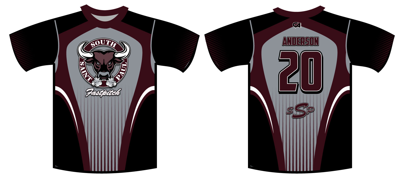 SSP Fastpitch Fan Full Dye Jersey : Custom Apparel Inc.